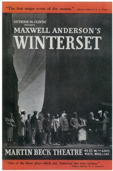 Winterset (Broadway) Movie Poster (11 x 17) - Item # MOV407423