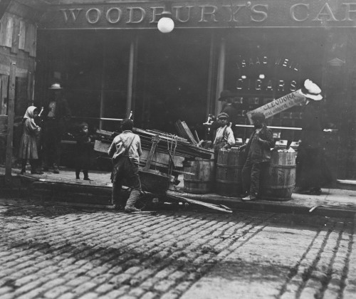 Boy Woodpickers Loading Poster Print - Item # VARBLL058754439L