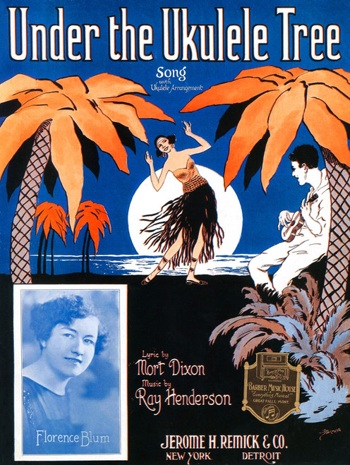 Cover to sheet music with a Hawaiian theme. Poster Print by Starmer - Item # VARBLL0587383151