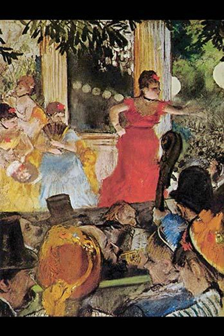 Woman sings on stage at a concert showing orchestra pit and audience Poster Print by Edward Degas - Item # VARBLL058725968x