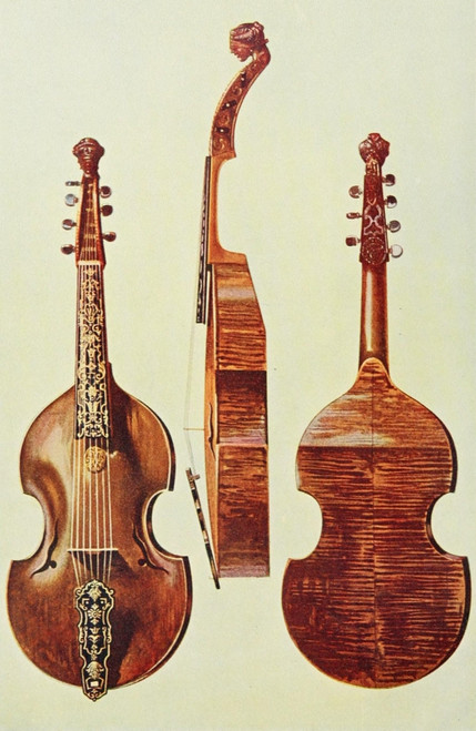 Musical Instruments 1921 Viola D'Amore Poster Print by  William Gibb - Item # VARPPHPDP87880
