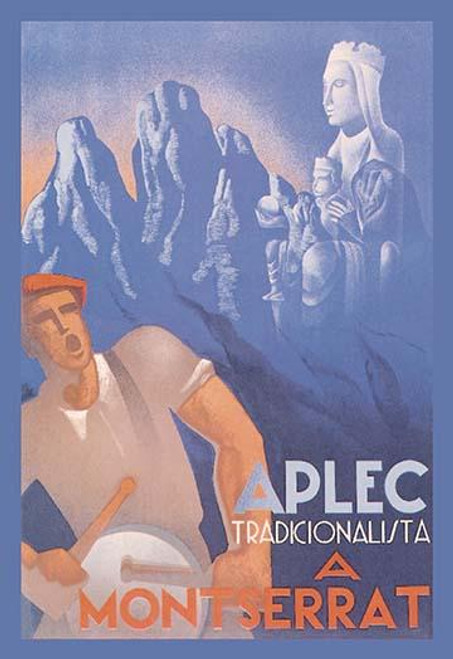 Gathering of Traditionialists in Montserrat.  Follower of Carlism met in Cataluna. Poster Print by Buigas - Item # VARBLL0587028475