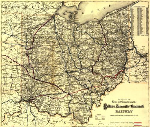 Bellaire, Zanesville and Cincinnati Railway Poster Print - Item # VARBLL058759167L