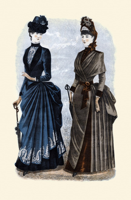 1884 Godey's Lady's Book Fashion Plate Poster Print by Godey's - Item # VARBLL0587395516