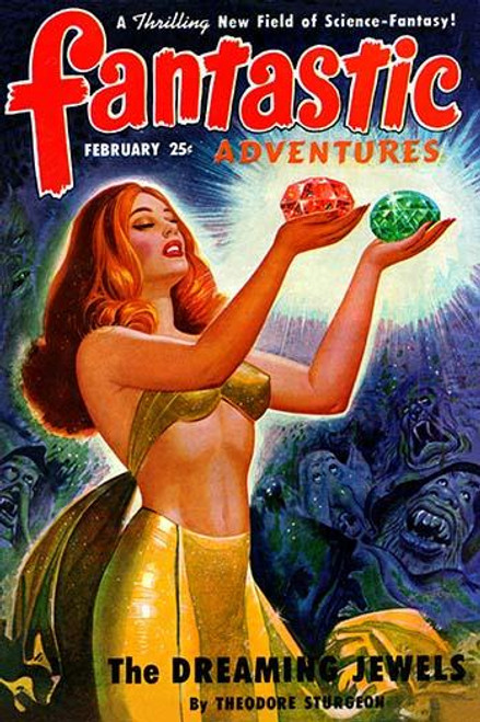 A pulp magazine cover from February 1950 about a child's toy that held immense power over dreams and everyone else too. Poster Print by Robert Gibson Jones - Item # VARBLL0587278617