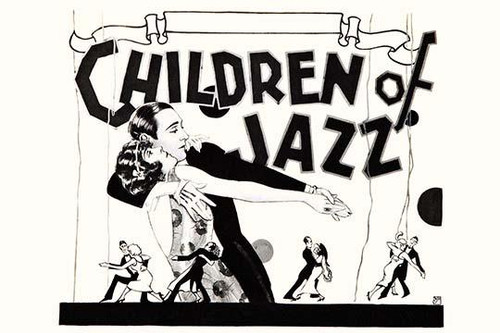 Detail of a silent film poster about Jazz music featuring couples dancing. Poster Print by unknown - Item # VARBLL0587319119