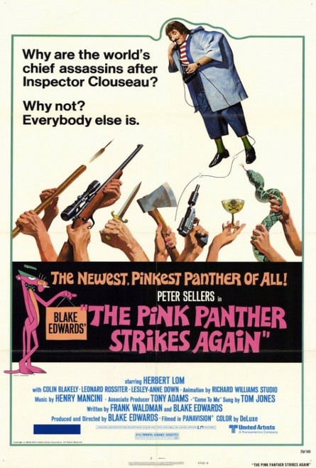 The Pink Panther Strikes Again Movie Poster Print (27 x 40) - Item # MOVEF5382