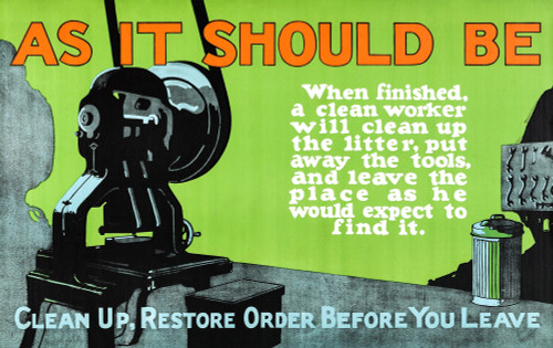 Mather & Company, Chicago printers who capitalized on the 1920s-era fascination with enhancing efficiency in the workplace, produced this colorful motivational art to be hung in factories and offices. Poster Print by Unknown - Item # VARBLL0587398302