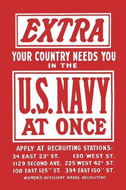 Women's Auxiliary Naval Recruiting poster. Poster Print by J. H. Tooker Print Co - Item # VARBLL0587220996
