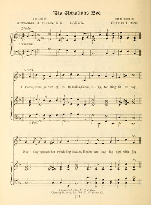 Tis Christmas Eve 1 Emmanuel  A Christmas Carol Service 1915 Poster Print - Item # VARPPHPD50886