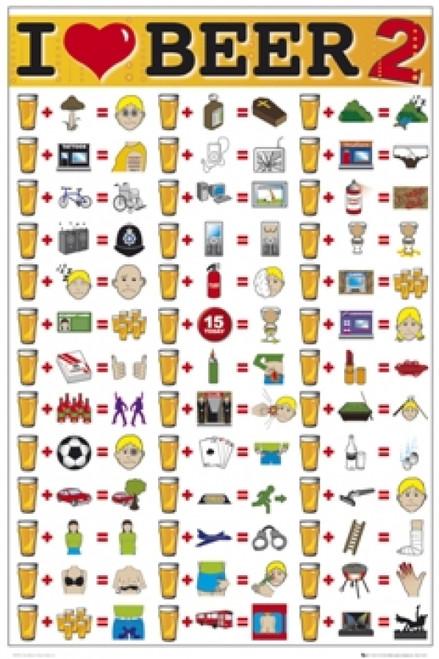 I Love Beer 2 Poster Print (24 X 36) - Item # SCO2256