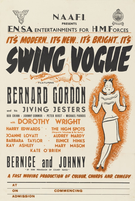 Ww2 Poster -- Ensa Entertainments  Swing Vogue Poster Print By ®The National Army Museum / Mary Evans Picture Library - Item # VARMEL10804925
