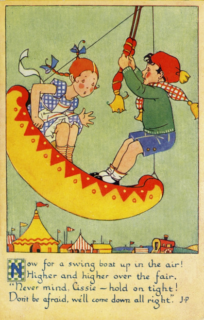 A Day At The Fair. Swing Boats Poster Print By Mary Evans Picture Library/Peter & Dawn Cope Collection - Item # VARMEL10804463