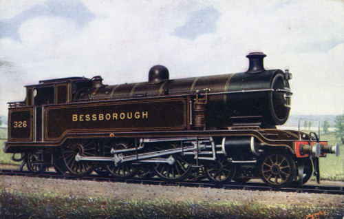 Locomotive No 326 'Bessborough' Poster Print By The Institution Of Mechanical Engineers / Mary Evans - Item # VARMEL10510230