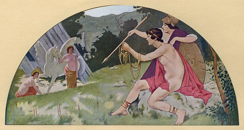 Washington Dc  Usa - Library Of Congress Mural - Bellerophon Poster Print By Mary Evans / Grenville Collins Postcard Collection - Item # VARMEL10902030