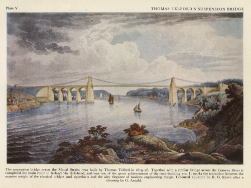 Telford'S Suspension Bridge Across The Menai Straits Poster Print By The Institution Of Mechanical Engineers/Mary Evans - Item # VARMEL10699816