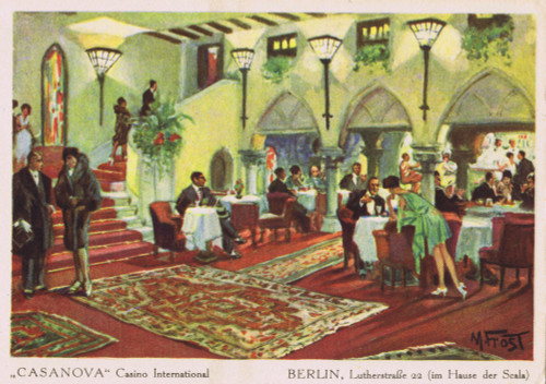 The Foyer Bar  Of The Casanova Casino International Poster Print By Mary Evans / Jazz Age Club Collection - Item # VARMEL10529112