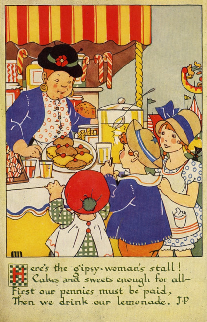 A Day At The Fair. The Cake Stall Poster Print By Mary Evans Picture Library/Peter & Dawn Cope Collection - Item # VARMEL10804464