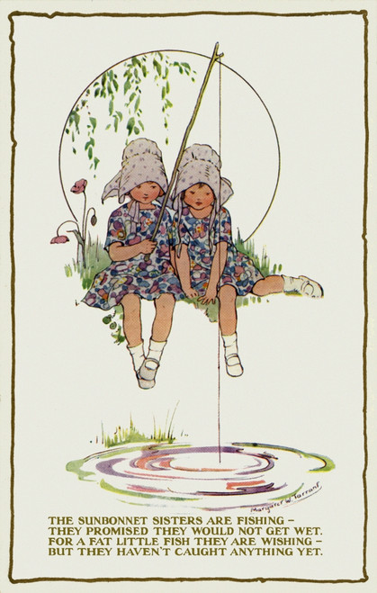 Girls In Sunbonnets Poster Print By Mary Evans Picture Library/Peter & Dawn Cope Collection - Item # VARMEL11045522