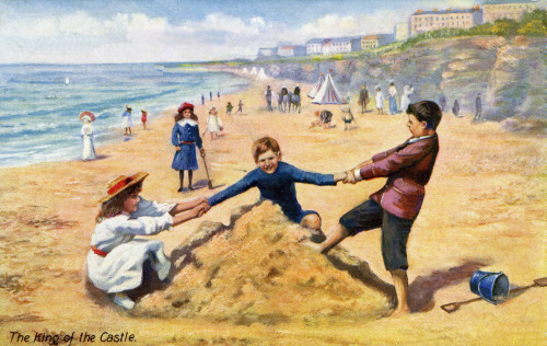 Children Playing On A Sandy Beach Poster Print By Mary Evans Picture Library/Peter & Dawn Cope Collection - Item # VARMEL10543063