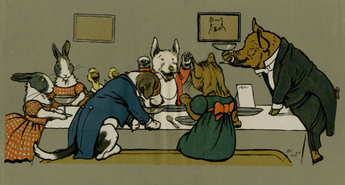 Hungry Peter The Pig'S Dinner Party Poster Print By Mary Evans Picture Library - Item # VARMEL10644854