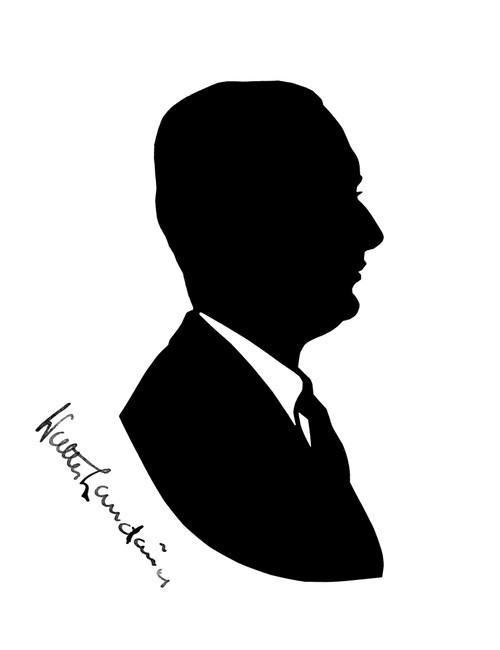 Silhouette Portrait Of Walter Landauer  Musician Poster Print By ®H L Oakley / Mary Evans - Item # VARMEL10645036