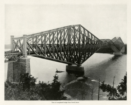 The Quebec Bridge - View Of The Completed Bridge Poster Print By The Institution Of Mechanical Engineers/Mary Evans - Item # VARMEL10699911