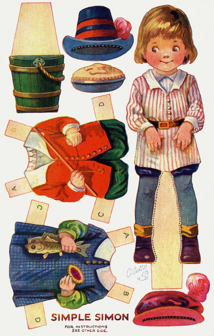 Dressing Doll. Simple Simon Poster Print By Mary Evans Picture Library/Peter & Dawn Cope Collection - Item # VARMEL11066165