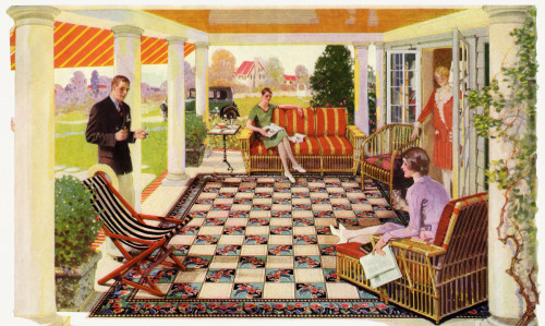 1920S Verandah Scene Poster Print By Mary Evans Picture Library/Peter & Dawn Cope Collection - Item # VARMEL11045364