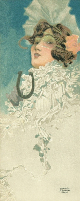 Elegant Woman With Horseshoe Poster Print By Mary Evans Picture Library/Peter & Dawn Cope Collection - Item # VARMEL10821558