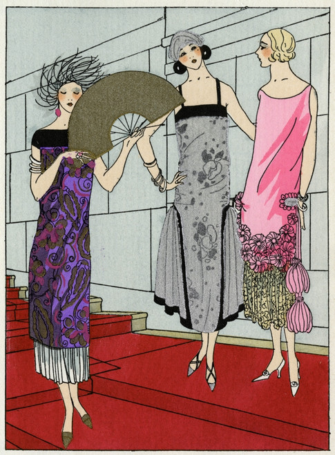 Three Ladies In Evening Dresses By Paul Poiret And Beer Poster Print By Mary Evans Picture Library - Item # VARMEL10537100