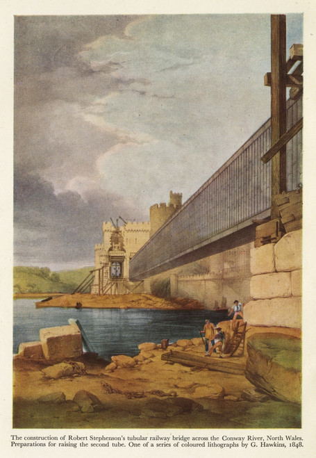 Stephenson'S Railway Bridge Across The Conway River Poster Print By The Institution Of Mechanical Engineers/Mary Evans - Item # VARMEL10699812