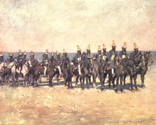 The Durbar 1903 Armoured horsemen of Kishengarh Poster Print by  Mortimer Menpes - Item # VARPPHPDA63727