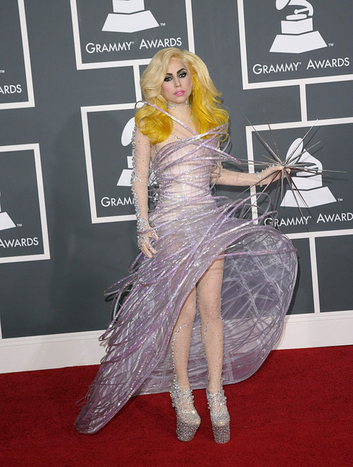 Lady Gaga At Arrivals For 52Nd Annual Grammy Awards - Arrivals, Staples Center, Los Angeles, Ca January 31, 2010. Photo By Adam OrchonEverett Collection Celebrity - Item # VAREVC1031JAHDH040