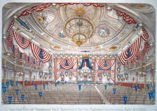 1868 Democratic National Convention Was Held In New York City'S Tammany Hall. History - Item # VAREVCHISL006EC146