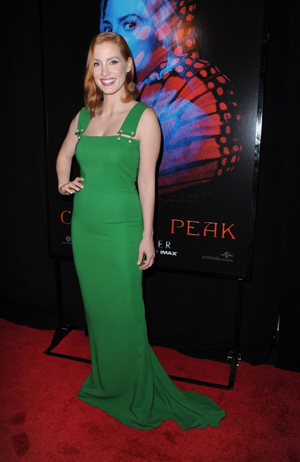 Jessica Chastain At Arrivals For Crimson Peak Premiere, Amc Loews Lincoln Square 13, New York, Ny October 14, 2015. Photo By Kristin CallahanEverett Collection Celebrity - Item # VAREVC1514O10KH048