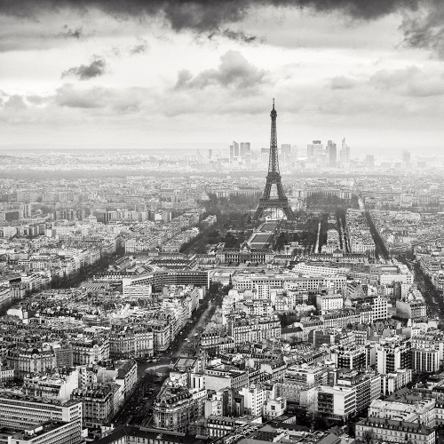 La Tour Eiffel Et La Defense Poster Print by Wilco Dragt - Item # VARPDXD1060D