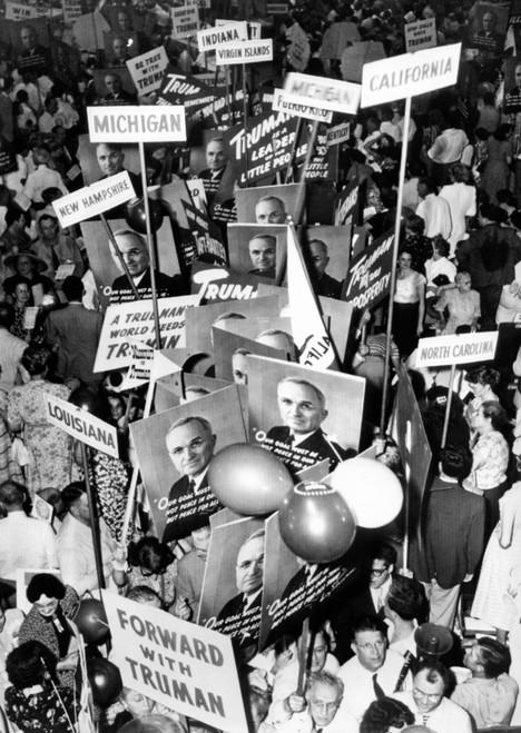 Demonstration For President Truman At The National Democratic Convention. Philadelphia History - Item # VAREVCCSUA000CS117