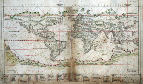 1630 Portuguese Map Of The World. Southern Continents History - Item # VAREVCHISL001EC122