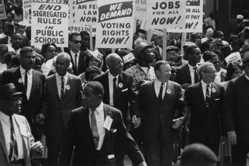 1963 March On Washington. Civil Rights Leaders At The Front Of The March Whitney Young History - Item # VAREVCHISL033EC489