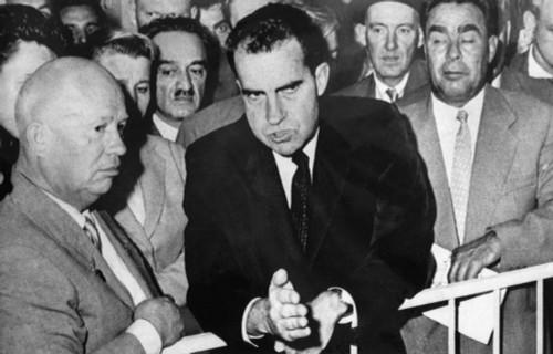 1959 Cold War. From Left Soviet Premier Nikita Khrushchev History - Item # VAREVCPBDRINIEC053