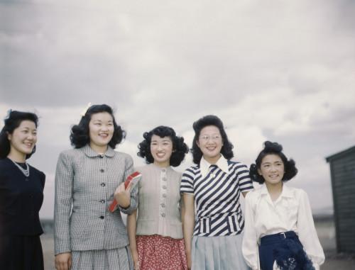 Five Smiling Japanese American Women Internees At Tule Lake Relocation Center During World War Ii. History - Item # VAREVCHISL017EC069