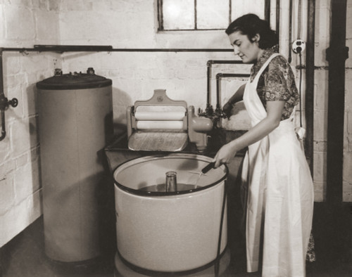 1930S State Of The Art Home Laundry Included A Hot Water Heater History - Item # VAREVCHISL020EC120