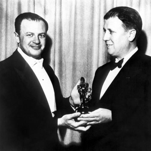1951 Joseph L. Mankiewicz Hands George Stevens [Best Director History - Item # VAREVCSBDOSPIEC057