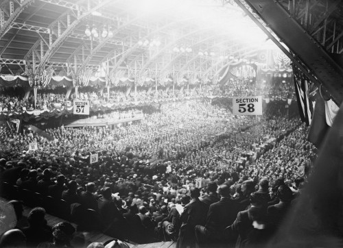 1912 Democratic Convention Nominated Woodrow Wilson. Broad View Of Convention Delegates At The Fifth Regiment Armory History - Item # VAREVCHISL006EC157