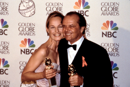 Helen Hunt, Jack Nicholson With Their Golden Globe Awards For As Good As It Gets, 1998 Celebrity - Item # VAREVCPSDJANIHR008