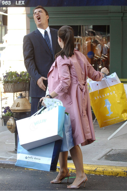 Chris Noth, Kristin Davis On Location For Sex And The City The Movie, Lexington & 71St Street In Manhattan, New York, Ny, September 20, 2007. Photo By George TaylorEverett Collection Celebrity - Item # VAREVC0720SPEUG012