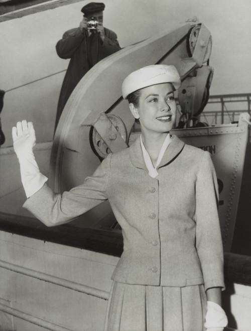 Grace Kelly Waves From The Ocean Liner Ss Constitution Before Sailing For Monaco. April 4 History - Item # VAREVCHISL039EC173