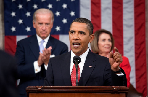 President Obama Delivers An Address On Health Care Reform To A Joint Session Of Congress At The U.S. Capitol. Sept. 9 2009. History - Item # VAREVCHISL027EC059