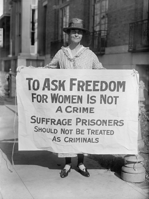 Woman Suffrage Picket Protests Criminal Arrests Of Militant Protestors From The National Woman'S Party. As Prisoners History - Item # VAREVCHISL017EC171